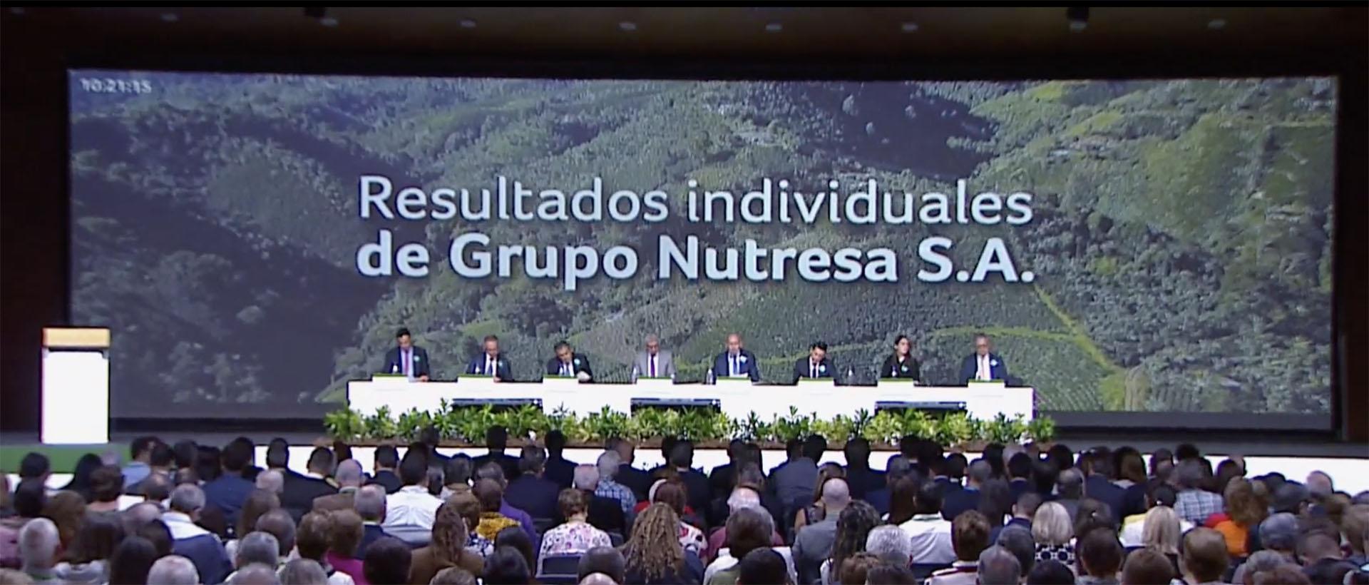 Imagen asamblea de accionistas Grupo Nutresa S.A. gestionada por Xegmenta