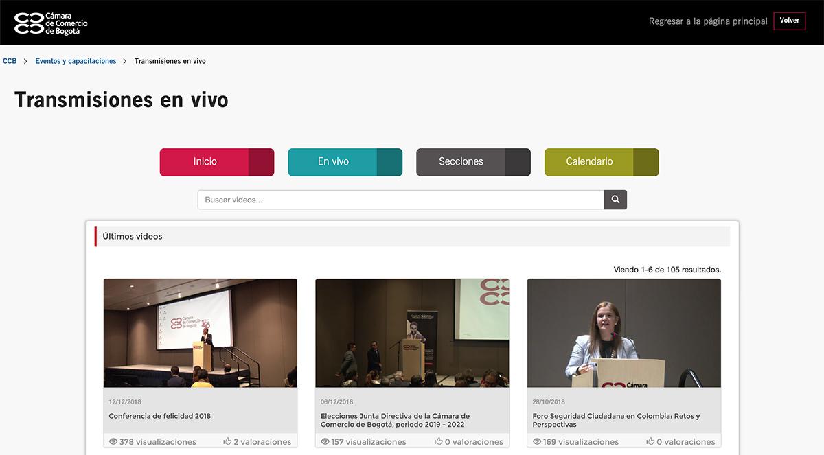 Transmisiones en vivo de la Cámara de Comercio de Medellín gestionadas por Xegmenta