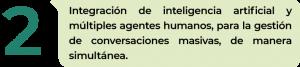 Integración de inteligencia artificial y múltiples agentes humanos, para la gestión de conversaciones masivas, de manera simultánea.